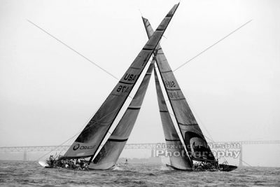 Crossed Sails - B&W 1