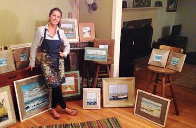 Petersen in her studio