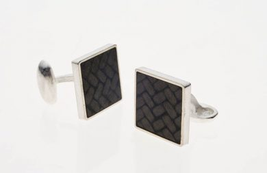 Carbon Fiber Cufflinks : Square
