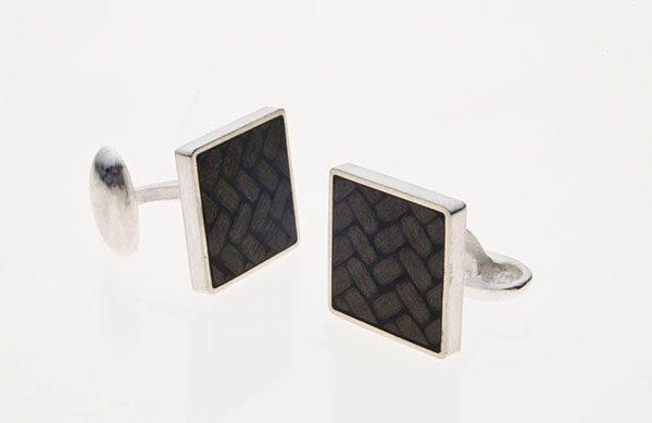 Carbon Fiber Cufflinks : Square