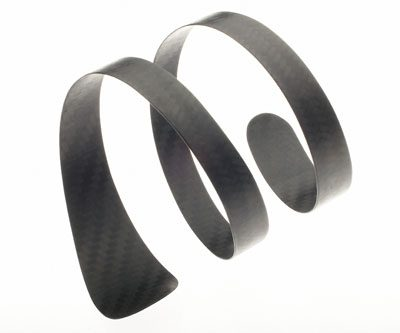 Carbon fiber Spiral Wrap bracelet by Diana Hall