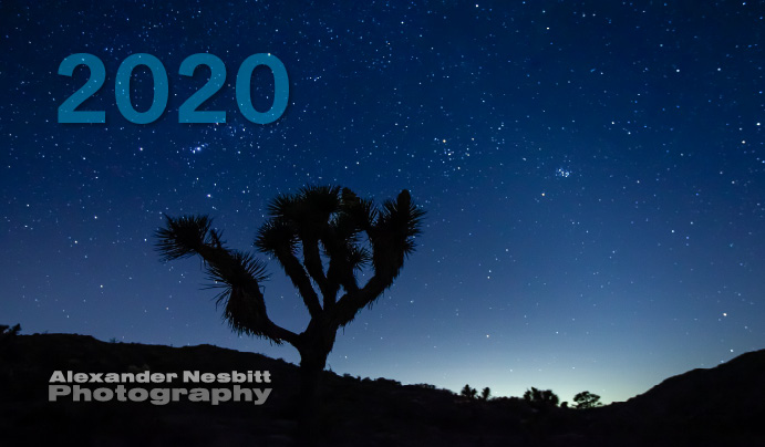 Cover image of Alexander Nesbitt's 2020 Photo Calendar