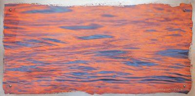 "Harbor ripples as a 12x24"" hand coated Aluminum print"