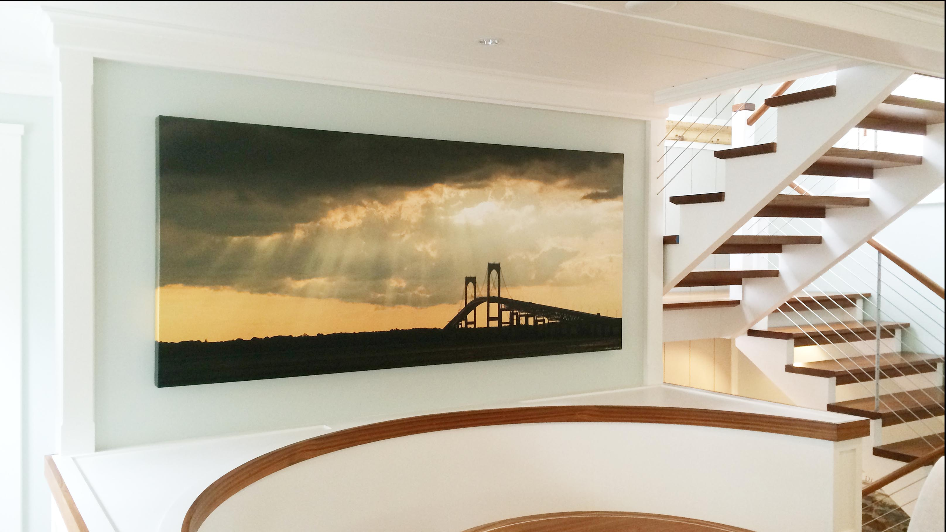 Newport Bridge Canvas-custom size art