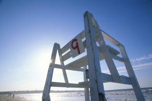 Newport, RI - Number nine lifeguard chair - first beach. the best beach to walk to.