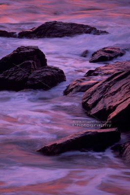 Sachuest point rocks at sunrise 1