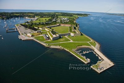 Fort Adams from Air 1