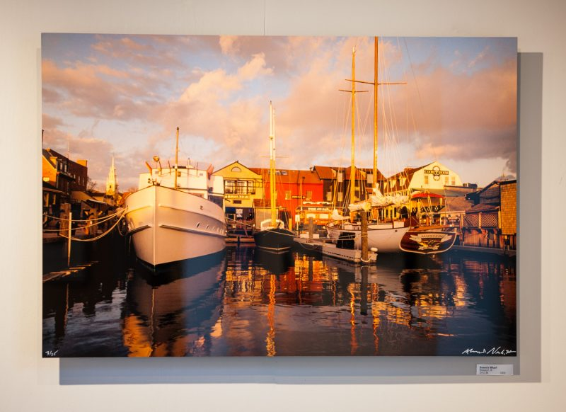 "Bowen wharf as a 24x36"" dye sublimation print on aluminum"