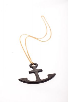 Carbon Fiber Anchor Pendant