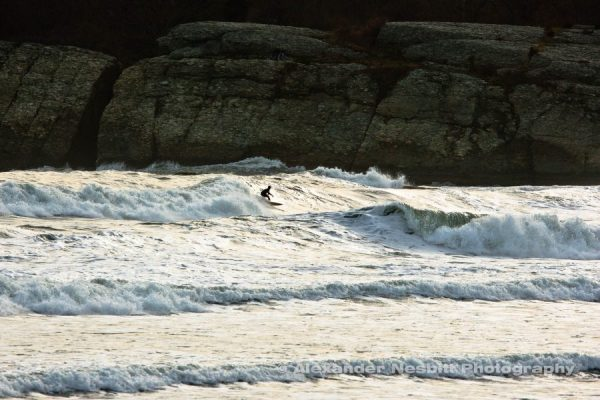 Surfing Sachuest, Second Beach middletown, RI.