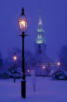 Trinity Church at Night 1