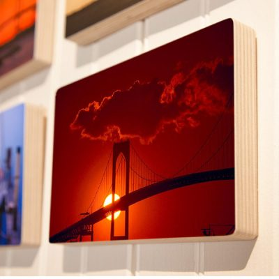 Newport Bridge, Red Sunset - photoblock 1