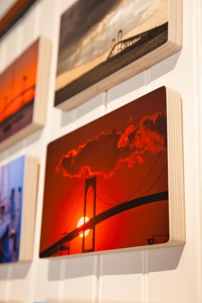 Newport red sunset photo block