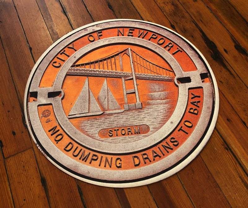 newport sewer cover, doormat