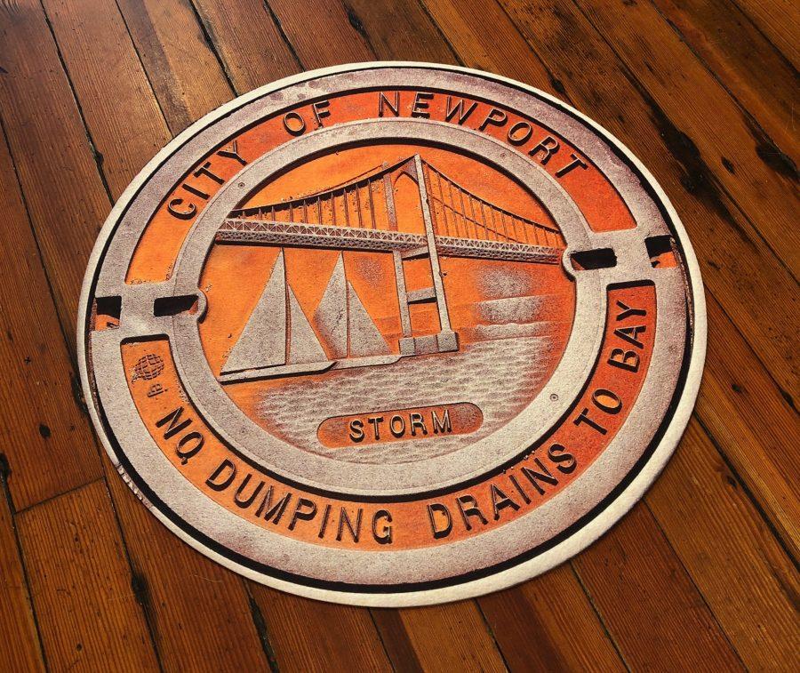 newport sewer cover, doormat