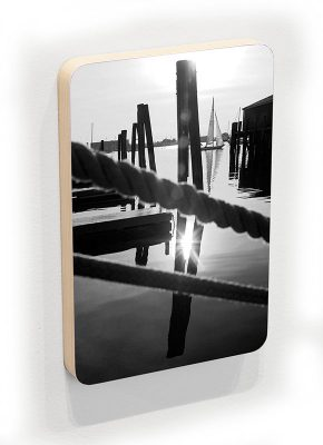 Bannister's Wharf - black and white - photoblock 1