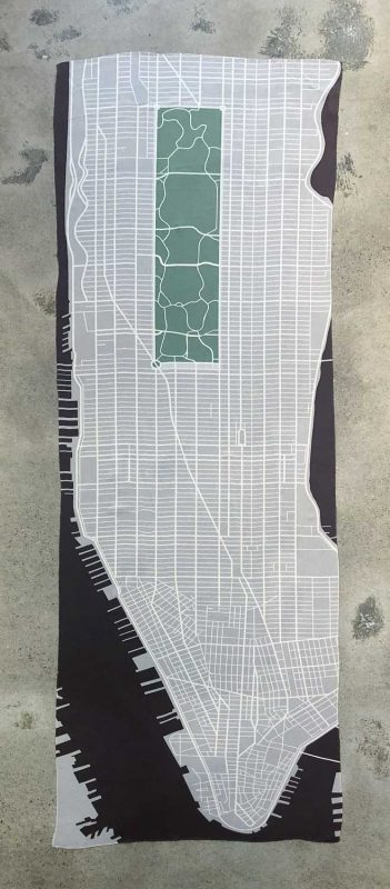 scarf with Manhattan map