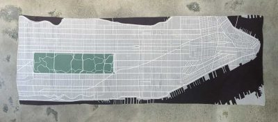 Scarf with Map of Manhattan
