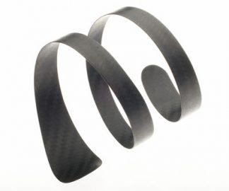 Carbon fiber Spiral Wrap bracelet by Diana Hall