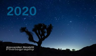 Cover image of Alexander Nesbitt's 2020 Photo Calendar