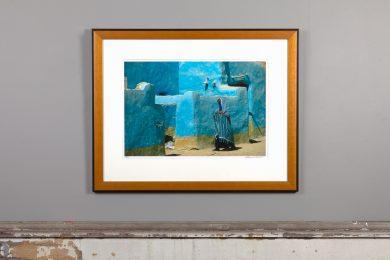 framed 13x20 over mantle