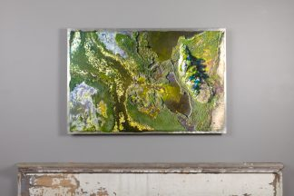 arial view of the Hazard road marsh on aluminum 24x36, hung over mantle