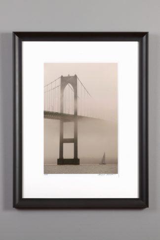 "framed 11x14 of the ""Foggy Bridge"""