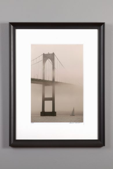 "framed 11x14 of the ""Foggy Bridge"""