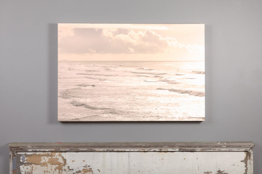 24x36 canvas print of pacific ocean hanging above a mantle