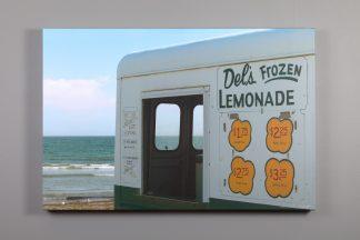 24x36 canvas print of a del's lemonade truck