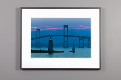 13x20 framed image of blue dusk