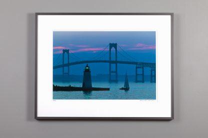 13x20 framed image of blue dusk