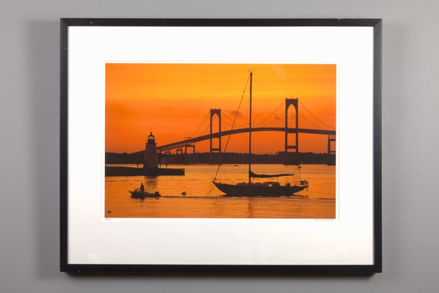 framed 16x24 of Orange Sunset