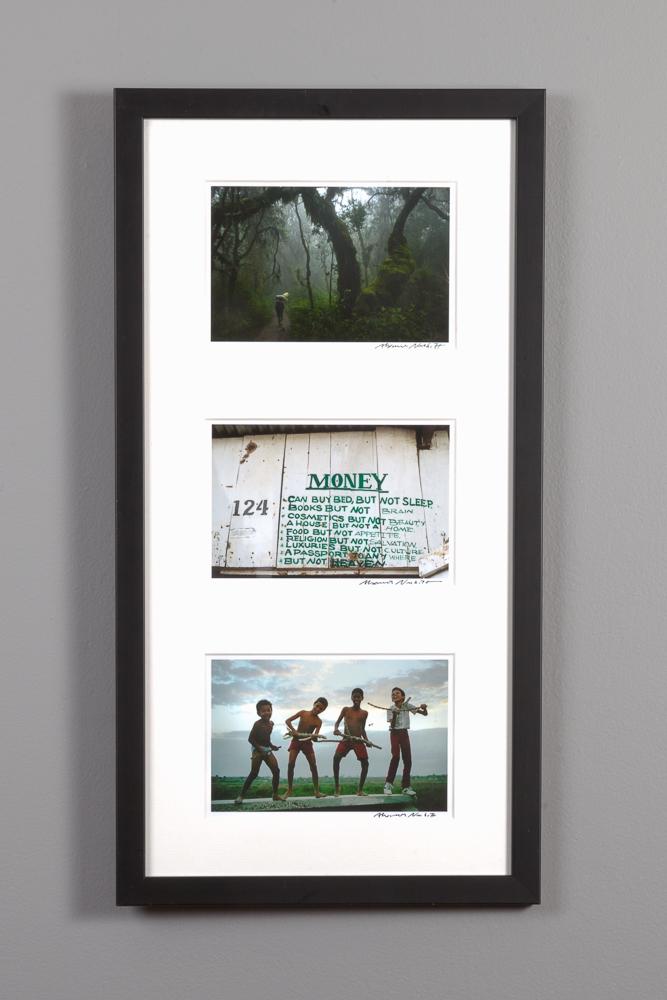 framed 5x7 triptych
