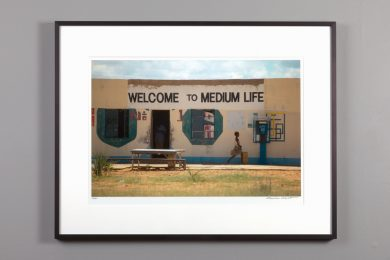 framed 13x20 print, welcome to medium life