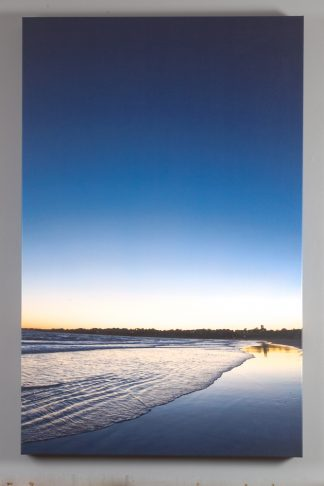 sachuest beach at night printed on canvas