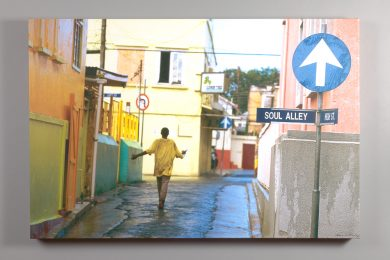 """Soul Alley"" image printed on canvas"