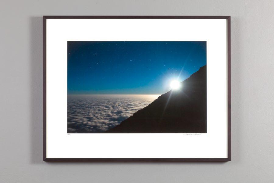 """framed 13x20 image of """"Full Moon over Mt Kilimanjaro"""" by Alexander Nesbitt"""