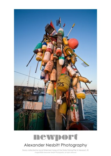 Nesbitt's Buoy Tree image as an art poster 18x24