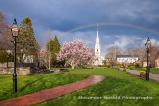 Rainbow of Trinity Church and Queen Anne Square