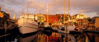 Boats at Bowen's Wharf - Panorama 1