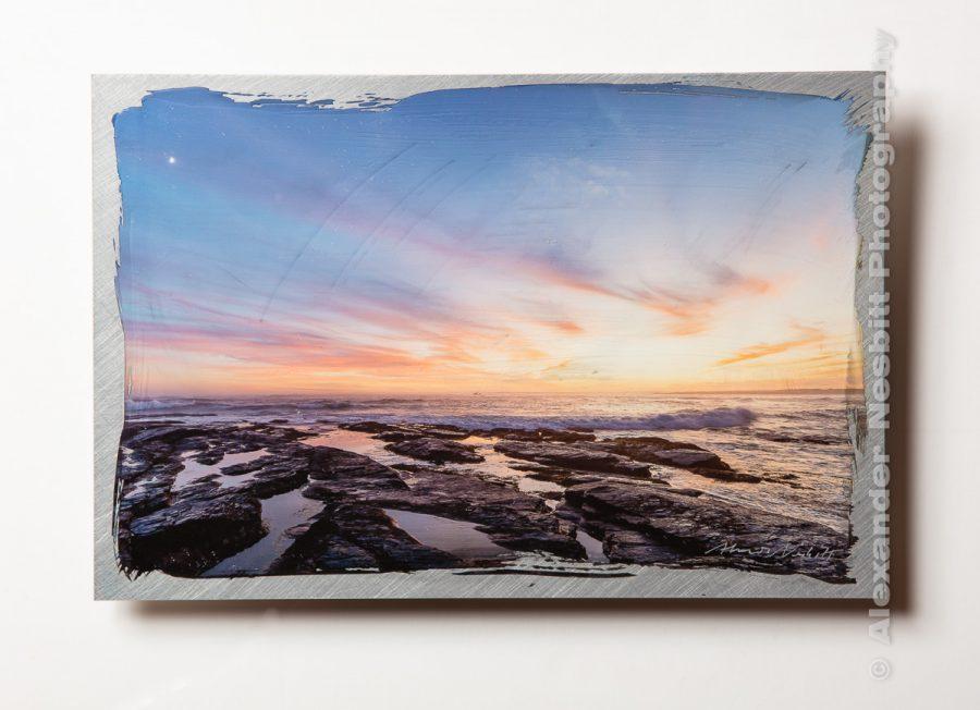 Brenton point hand coated aluminum print