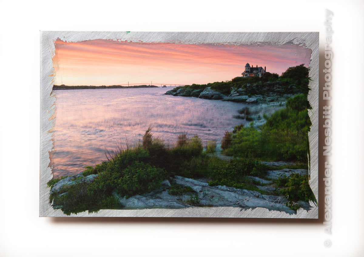 Castle Hill Inn over looks Narraganset Bay, A hand coated Print on aluminum by Alexander Nesbitt