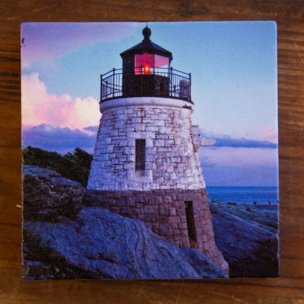 Castle Hill light house on a Marble Coaster