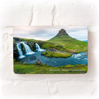 kirkjufell mountian and waterfall iceland