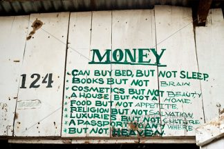 Money - a photo of a sign from Africa