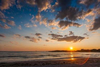 Reject Beach Newport RI sunset - fine art photograph by Alexander Nesbitt