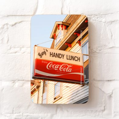 Gary's handy lunch sign