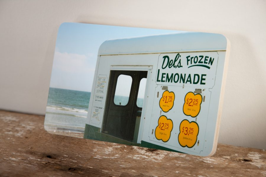 Del's Lemonade Truck at Second Beach as a photoblock handmade in Newport, RI