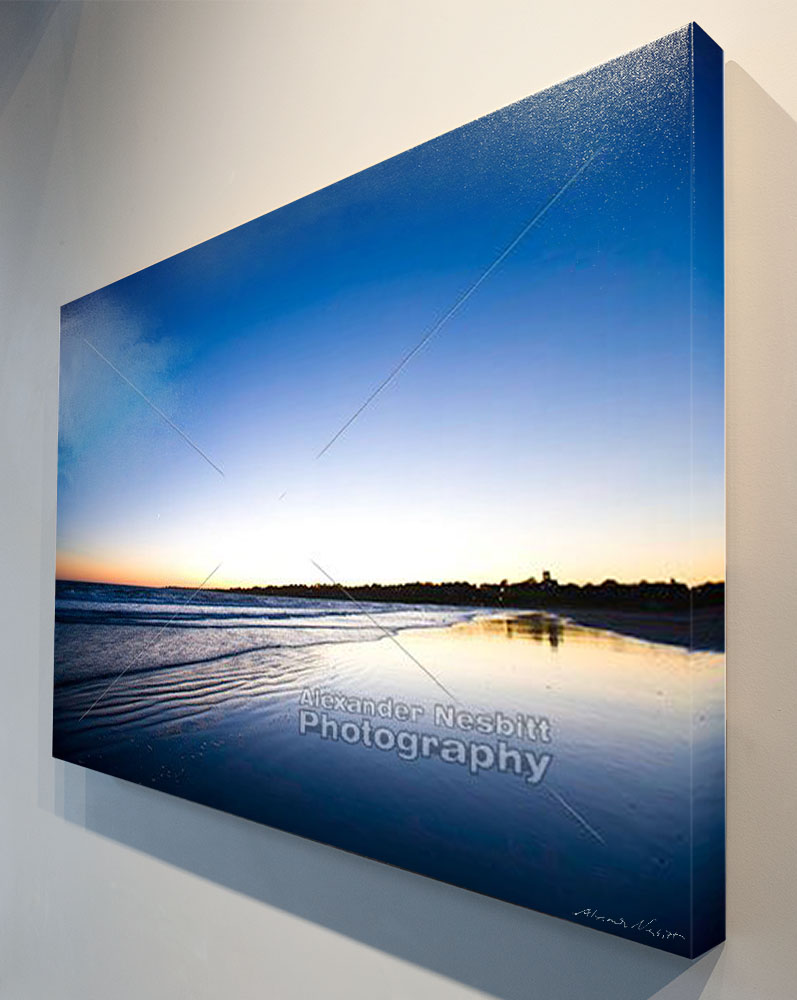 "24"" x 36"" Canvas wrap of ""Clear night at Sachuest Beach"""